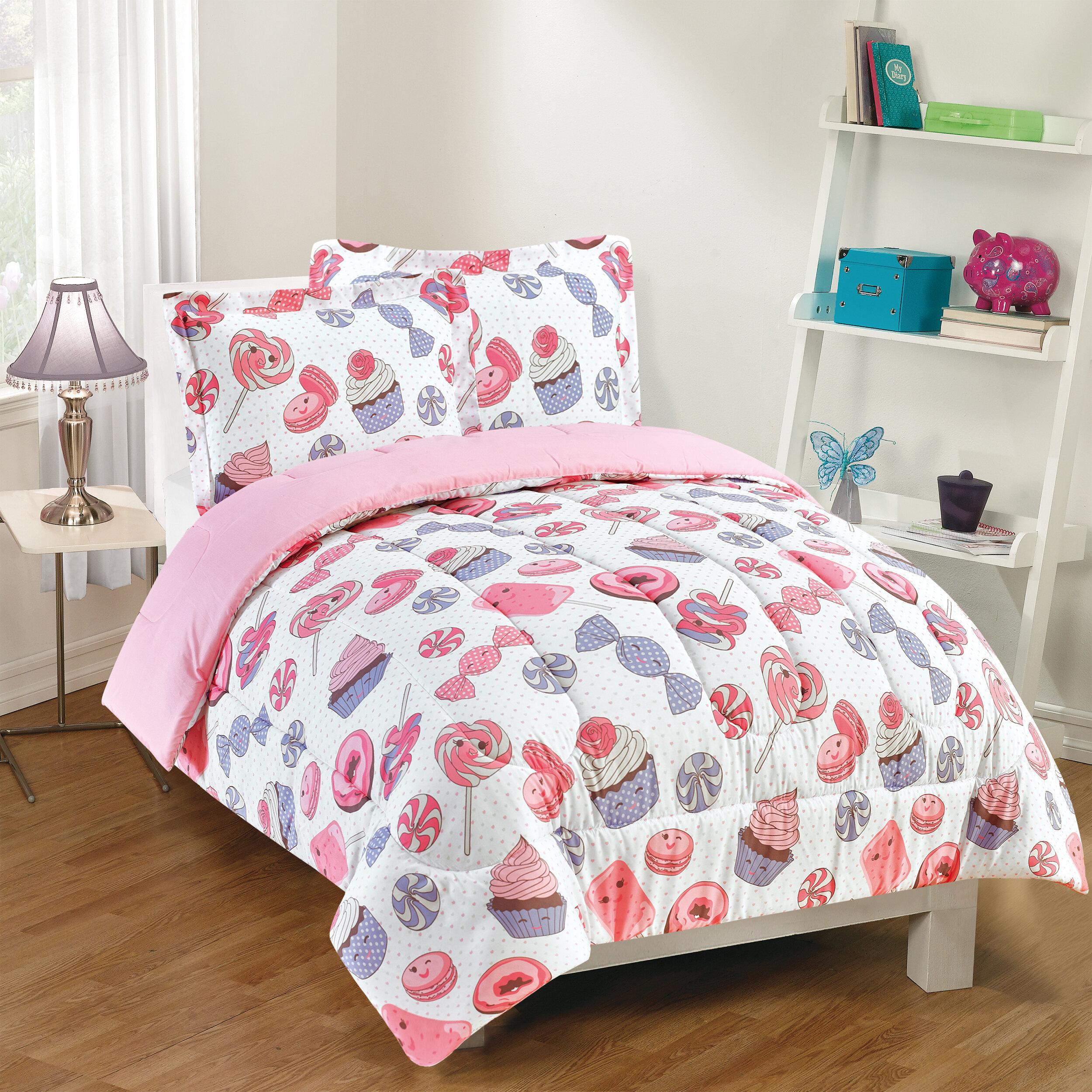 Zoomie Kids Albus Sweet Treats Reversible Comforter Set Reviews Wayfair