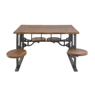 Emestina Rustic Dining Table by 17 Stories #1