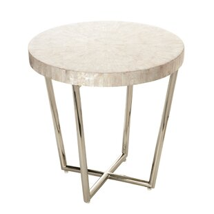 Capiz Seashell Mosaic End Table by Kouboo