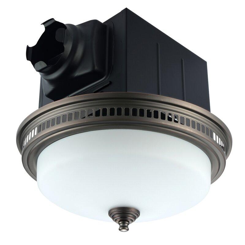 Akicon Ultra Quiet 110 Cfm Energy Star Bathroom Fan With Light Reviews Wayfair