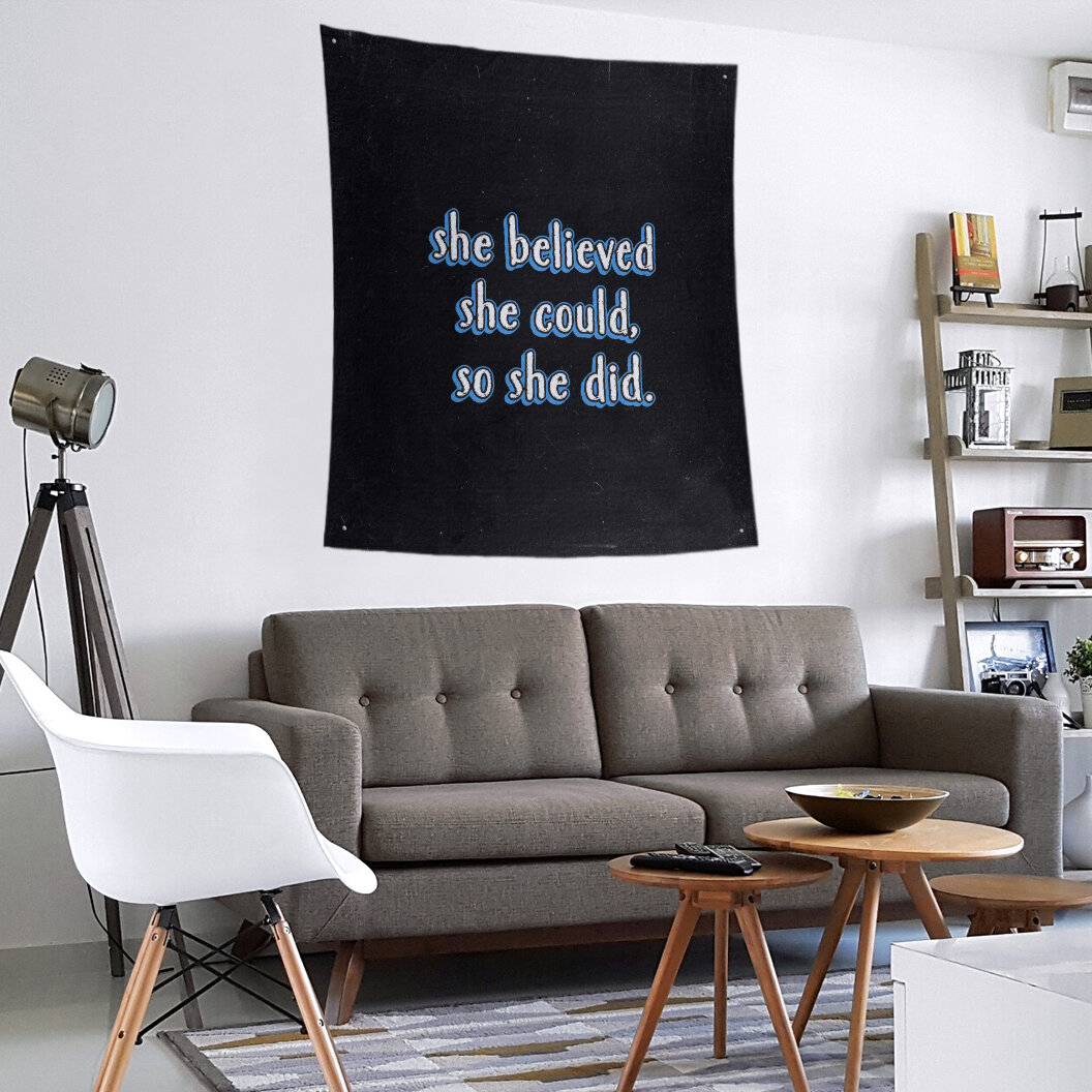East Urban Home Polyester Women Empowerment Quote Chalkboard Tapestry Wayfair