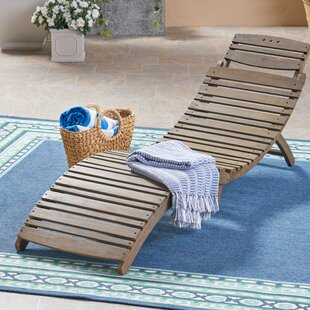 Gracie Oaks Outdoor Reclining Chaise Lounge