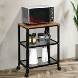 Fraga Kitchen Cart with Manufactured Wood Top by Williston Forge