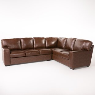 Darby Home Co Calabria Leather Sectional