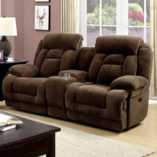 Shop Prall Flannelette Motion Reclining Love Seat by Winston Porter