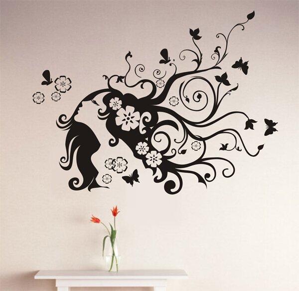 pop decors flower girl wall decal & reviews | wayfair