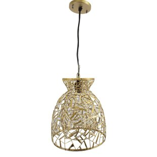 Zappobz Birds Nest 1 Light Cone Pendant