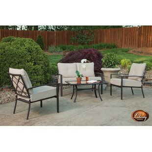 Briarwood 4 Piece Complete Patio Set with Cushions