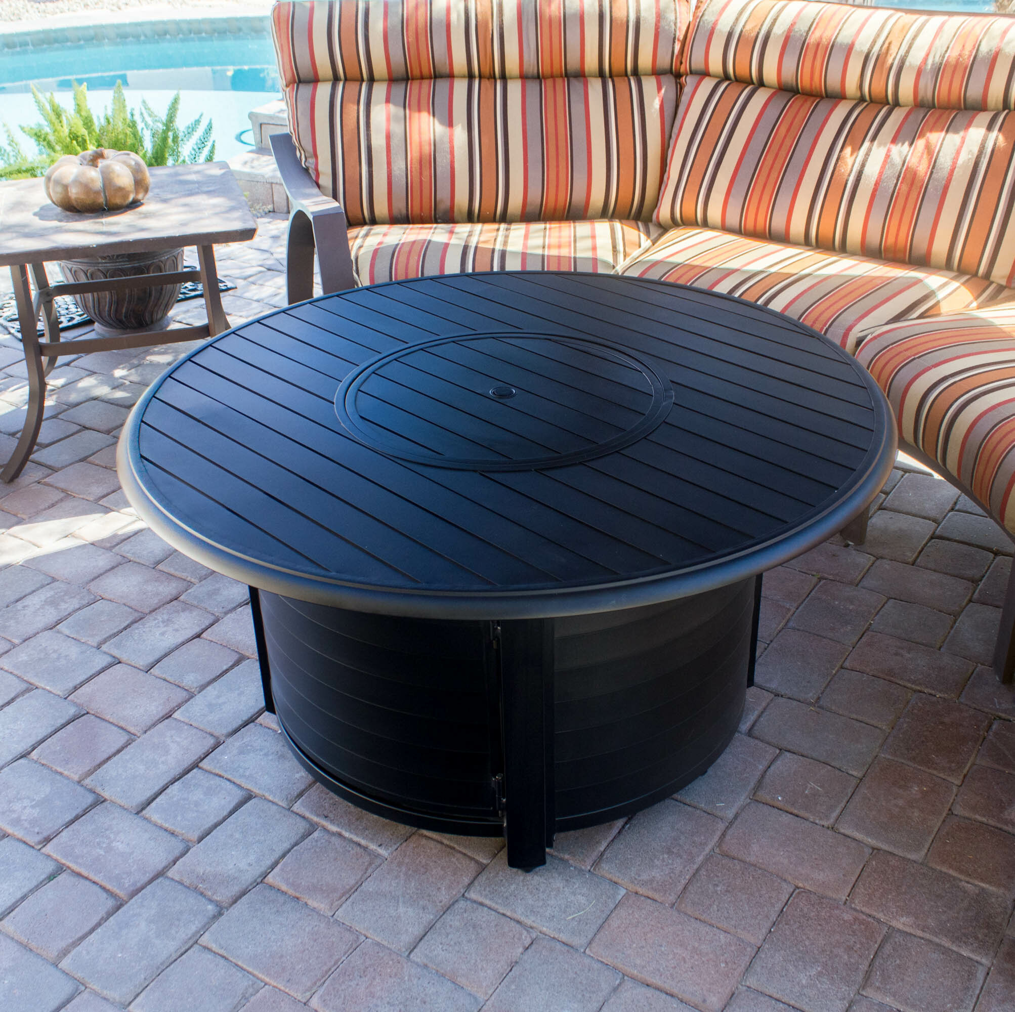 Picture of: Speedway Aluminum Propane Fire Pit Table Reviews
