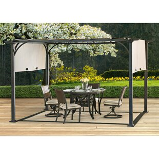 Mont 10 Ft W X 8 Ft D Metal Pergola With Canopy