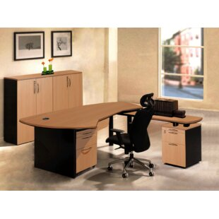 Executive Management 5 Piece L-Shaped Desk Office Suite