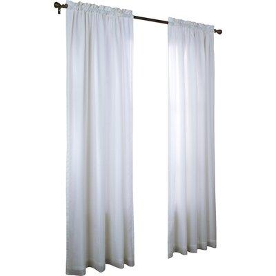 Charlton Home Villareal Voile Single Curtain Panel Size per Panel: 54 W x 63 L, Color: White