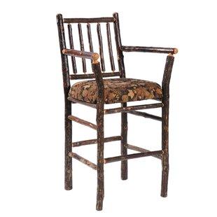Magnificent Hickory 24 Bar Stool By Fireside Lodge Top Reviews On Metal Inzonedesignstudio Interior Chair Design Inzonedesignstudiocom