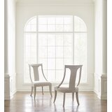 Cinema Upholstered Slat Back Side Chair in Light Gray (Set of 2) by Rachael Ray Home
