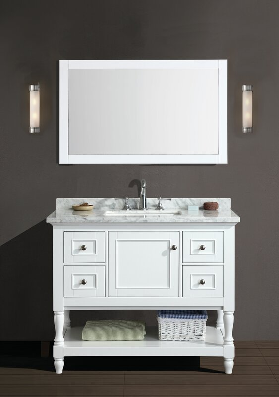 Amie 42 Single Bathroom Vanity Set With Mirror