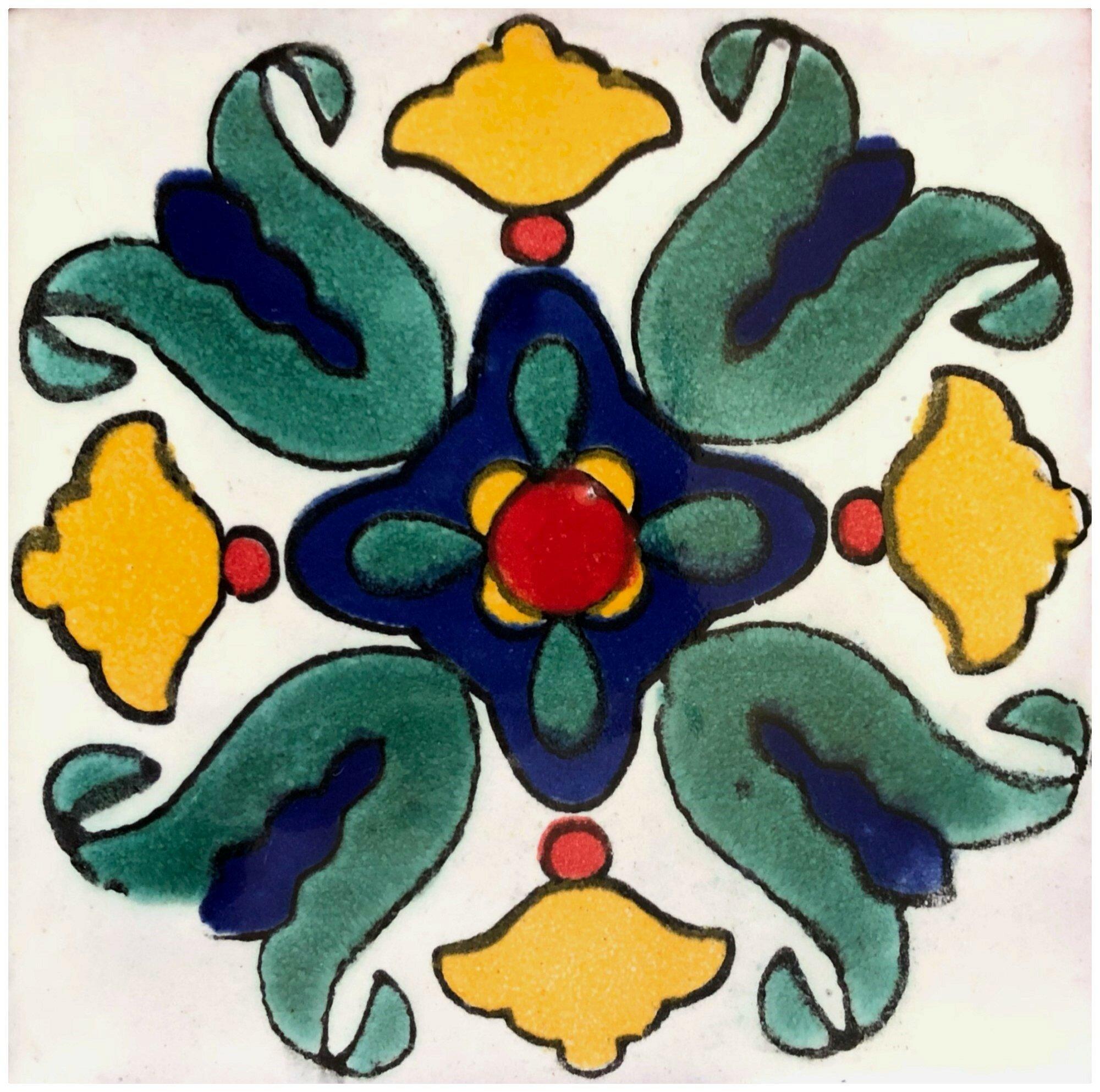 Ceramic Talavera Decorative Accent Tile