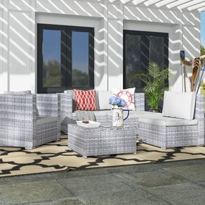 Augusta 6 Piece Deep Seating Group with Cushion