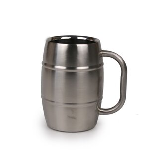 Beer Barrel 16 oz. Stainless Steel Mug