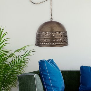 Andino 1-Light Rolled Edge Pierced Dome Pendant by Bloomsbury Market