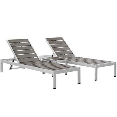 Modern Cushionless Outdoor Chaises Allmodern