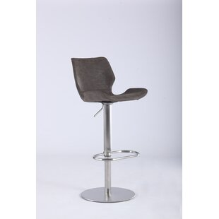 Bernick Adjustable Height Swivel Bar Stool Orren Ellis
