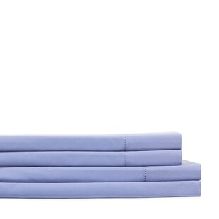 400 Thread Count 100% Cotton Solid Hemstitch Sheet Set