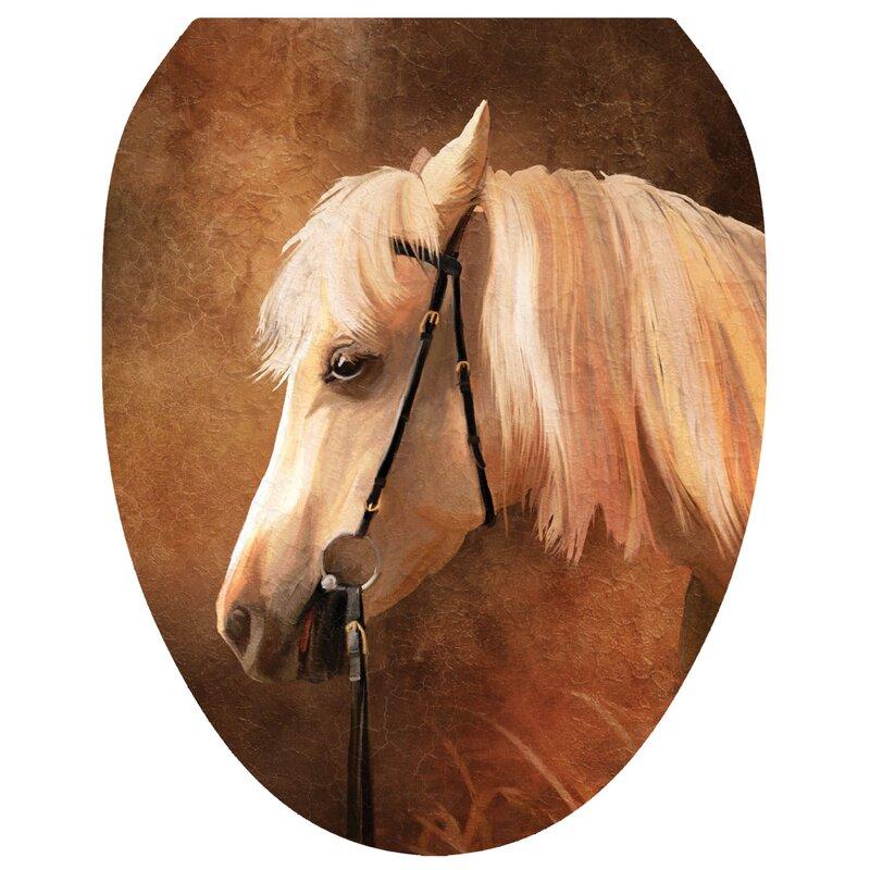Toilet Tattoos Painted Horse Toilet Seat Decal | Wayfair