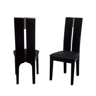 Avanti Genuine Leather Upholstered Dining Chair (Set of 2) by Sharelle Furnishings