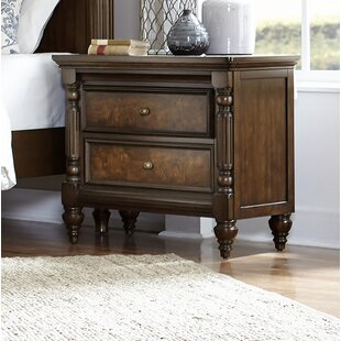 Compare prices Kimbro 2 Drawer Nightstand by Charlton Home