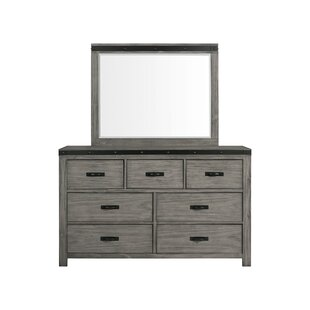 Pfeiffer 7 Drawer Double Dresser with Mirror