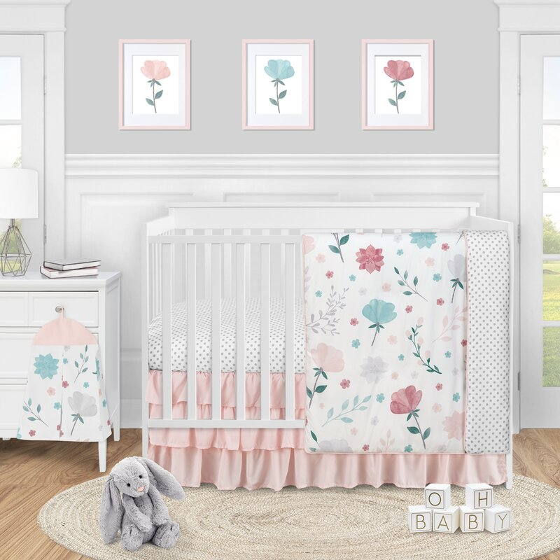 Sweet Jojo Designs Pop Rose 4 Piece Crib Bedding Set Wayfair
