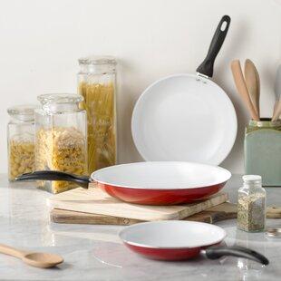 Wayfair Basics 3 Piece Nonstick Ceramic Frying Pan Set