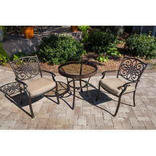 Darby Home Co Barrowman 3 Piece Bistro Set