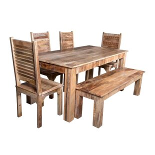Kamps 6 Piece Solid Wood Dining Set Bloomsbury Market