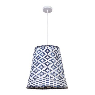 Jaqueline 1 -Light Bell Pendant by Bungalow Rose