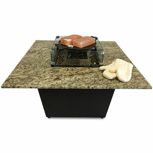 The Venice Granite Gas Fire Pit Table with Universal Cooking Package