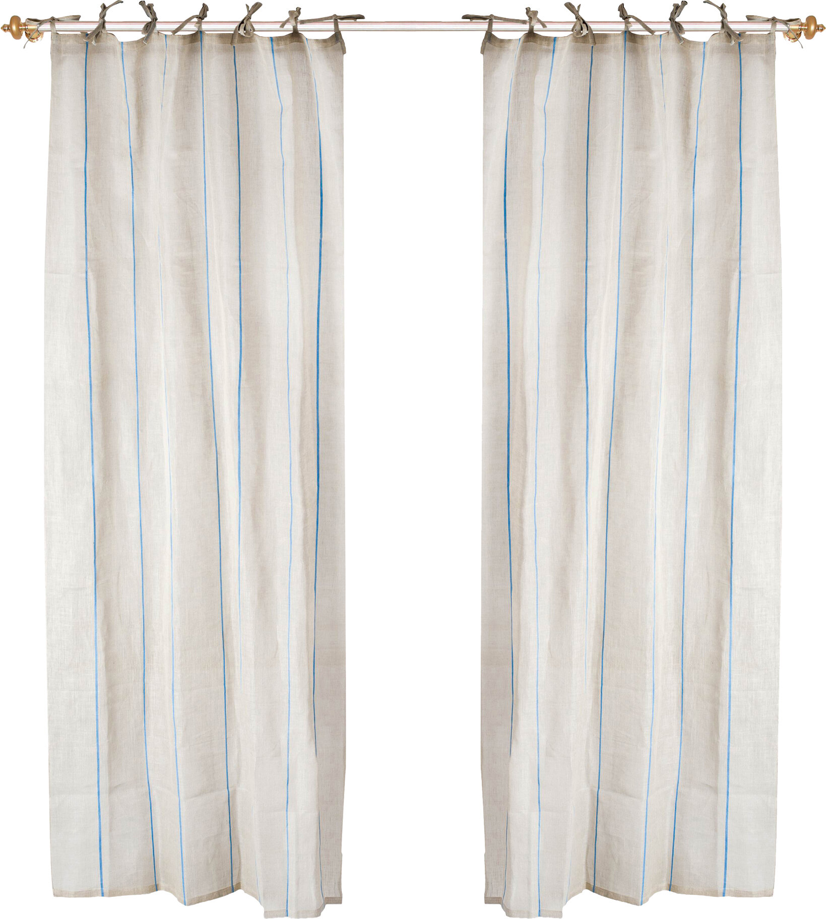 Delicieux Maisy Tie Top Curtain Panel In Light Blue