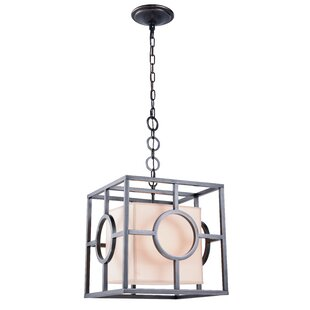 Nana 1-Light Square/Rectangle Pendant by Everly Quinn