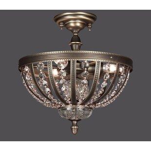 Terragona 3-Light Semi Flush Mount by Classic Lighting