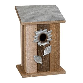Personalized Easter Birdhouses Genuine Leather Small Framed Wallet