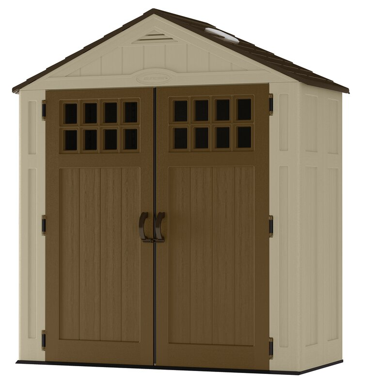 Garden Sheds 6 X 2 suncast everett 6 ft. 3 in. w x 2 ft. 9 in. d plastic tool shed