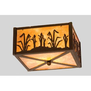 Meyda Tiffany Reeds and Cattails 2-Light Flush Mount