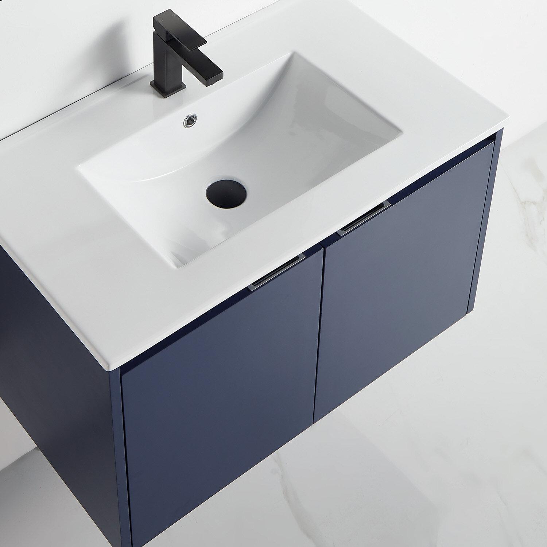 Orren Ellis Aladdin 31 Wall Mounted Single Bathroom Vanity Set Wayfair