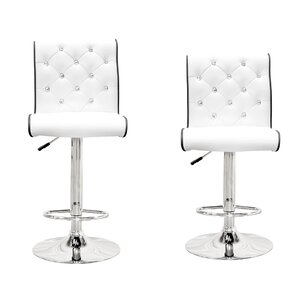 Elkton Adjustable Height Swivel Bar Stool Set (Set of 2)
