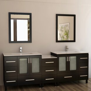 Saturn 88 Double Bathroom Vanity Set with Mirror by dCOR design