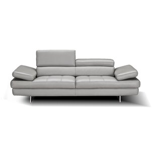 Maxwell Leather Sofa Orren Ellis