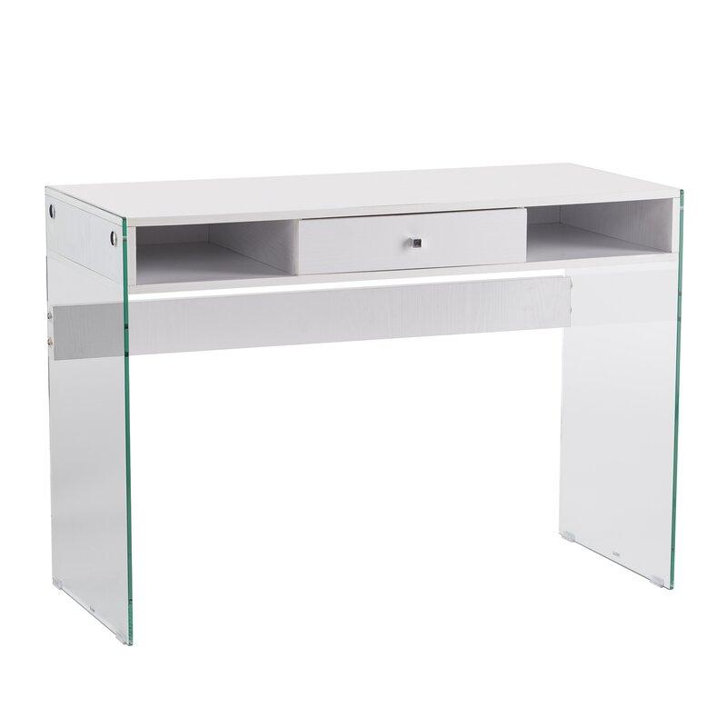 Latitude Run Bumberry Contemporary Writing Desk Reviews Wayfair - Contemporary writing desk furniture