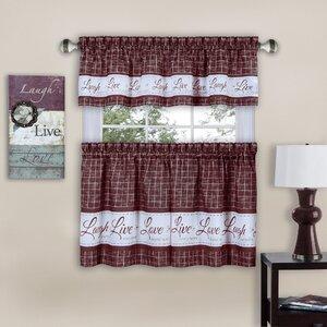 Dignan 3 Piece Kitchen Curtain Set