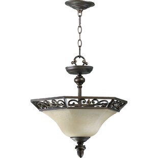 Charlton Home Lehman 2-Light Bowl Pendant