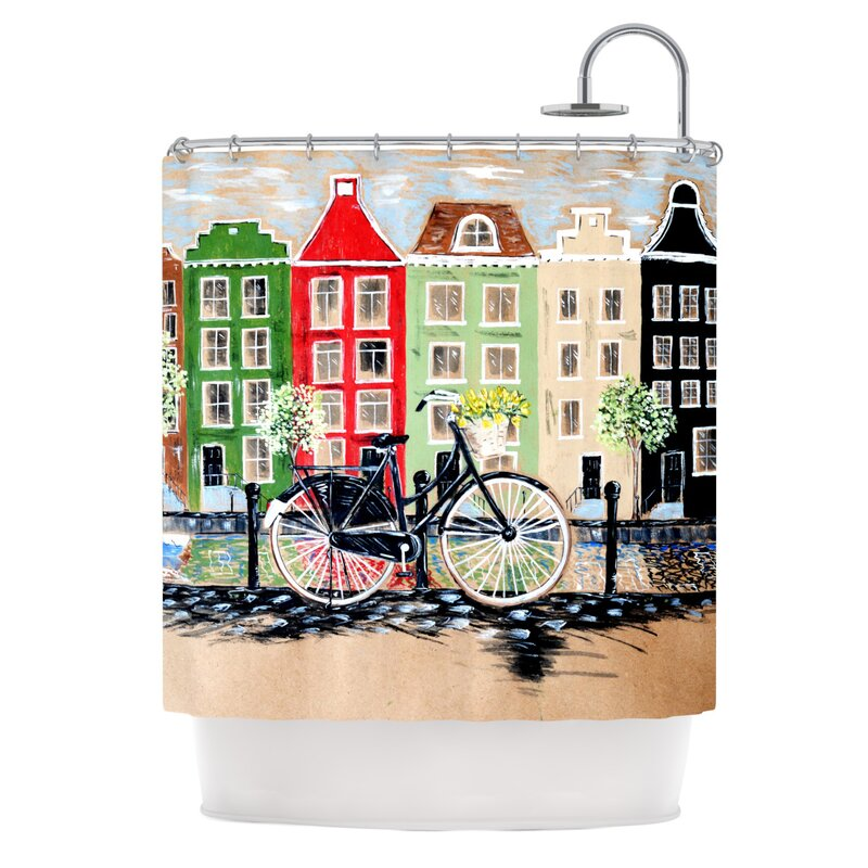 Marvelous Bicycle Shower Curtain